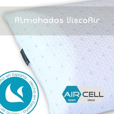 Almohadas Viscoelasticas, Almohadas viscoelasticas cervicales, Almohadas Viscoelasticas Viscoair, Diseños adaptados a la curvatura del cuello que ayudan con problemas cervicales.