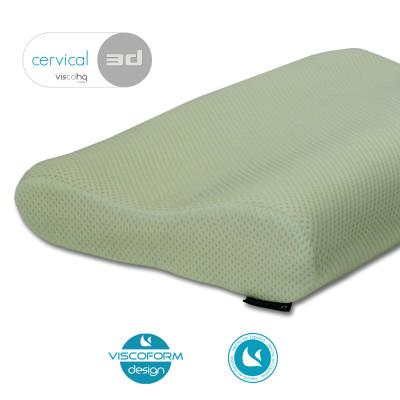 Almohada Viscoelástica CERVICAL acabado tejido 3D especial para personas calurosas,.