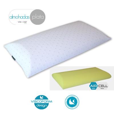Almohada Viscoelástica plana por una cara, Ideal para personas que les gustan las almohadas bajas o intermedias..