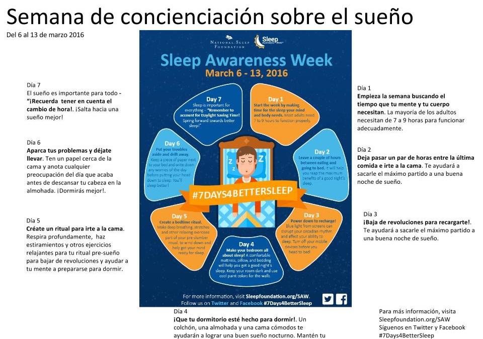 Semana de concienciación sobre el sueño